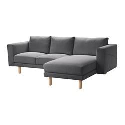 NORSBORG - 三座位梳化, 連躺椅/Finnsta 深灰色/樺木 | IKEA 香港及澳門 - PE558922_S3