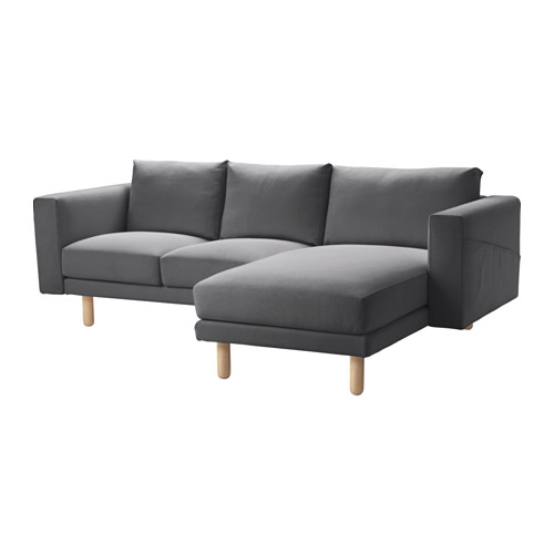 NORSBORG - cover for 3-seat sofa, with chaise longue/Finnsta dark grey | IKEA Hong Kong and Macau - PE558922_S4