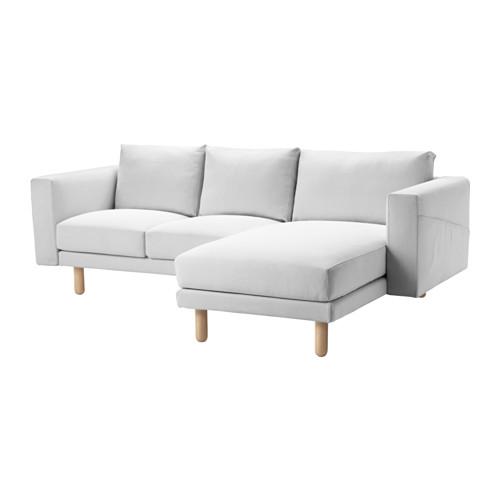 NORSBORG - 3-seat sofa, with chaise longue/Finnsta white/birch | IKEA Hong Kong and Macau - PE558926_S4