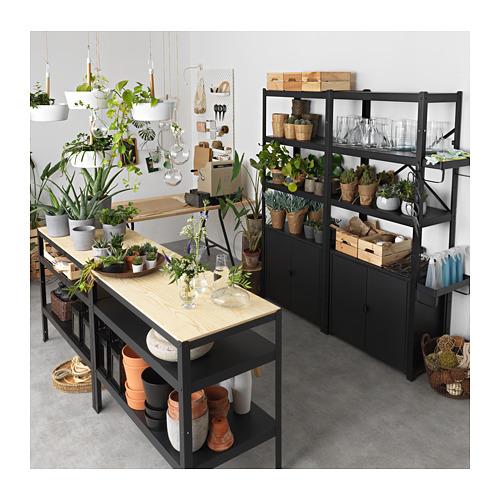 BROR - 工作檯, 55x110x88 cm, 黑色/松木夾板   IKEA 香港及澳門 - PE718820_S4
