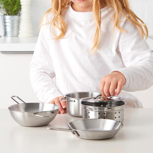 DUKTIG - 煮食用具 5件套裝, 不銹鋼色 | IKEA 香港及澳門 - PE611152_S4