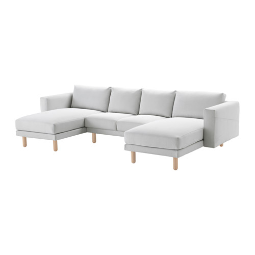 NORSBORG - cover for 4-seat sofa, with chaise longues/Finnsta white | IKEA Hong Kong and Macau - PE556779_S4