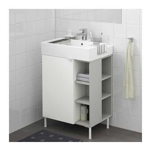 LILLÅNGEN - washbasin cab 1 door/2 end units, white/grey Ensen tap | IKEA Hong Kong and Macau - PE668444_S4