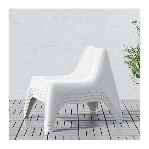 IKEA PS VÅGÖ - easy chair, outdoor, white | IKEA Hong Kong and Macau - PE616807_S4