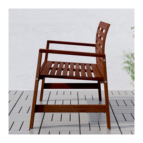 ÄPPLARÖ - bench with backrest, outdoor, brown stained | IKEA Hong Kong and Macau - PE616848_S4