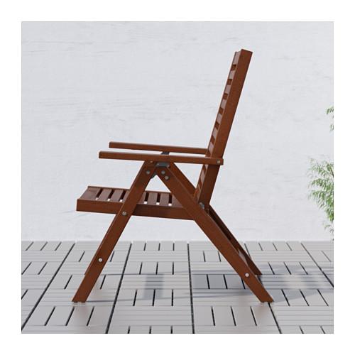 ÄPPLARÖ - 戶外躺椅, 可摺合 染褐色 | IKEA 香港及澳門 - PE616850_S4