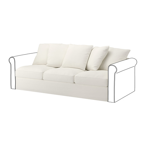GRÖNLID - cover for 3-seat section, Inseros white | IKEA Hong Kong and Macau - PE668610_S4