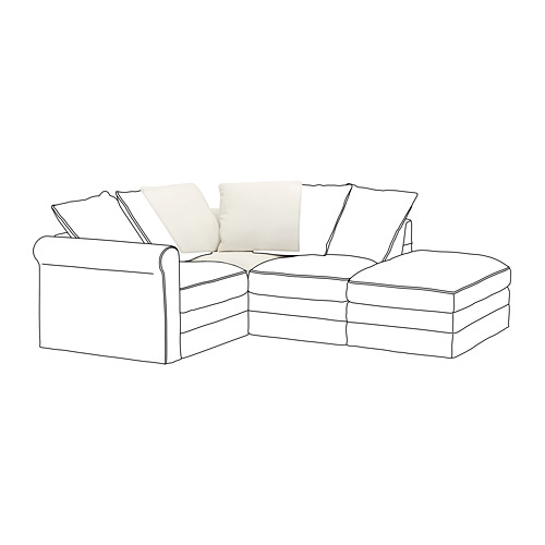 GRÖNLID - cover for corner section, Inseros white | IKEA Hong Kong and Macau - PE668613_S4