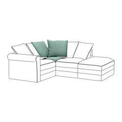 GRÖNLID - 角位梳化, Ljungen 淺綠色 | IKEA 香港及澳門 - PE668627_S3