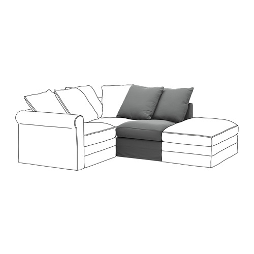 GRÖNLID - cover for 1-seat section, Ljungen medium grey | IKEA Hong Kong and Macau - PE668630_S4
