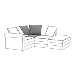 GRÖNLID - 角位梳化, Ljungen 暗灰色   IKEA 香港及澳門 - PE668629_S3
