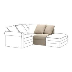 GRÖNLID - 單座位梳化, Sporda 原色 | IKEA 香港及澳門 - PE668643_S3