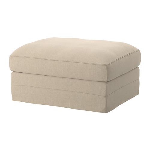 GRÖNLID footstool with storage