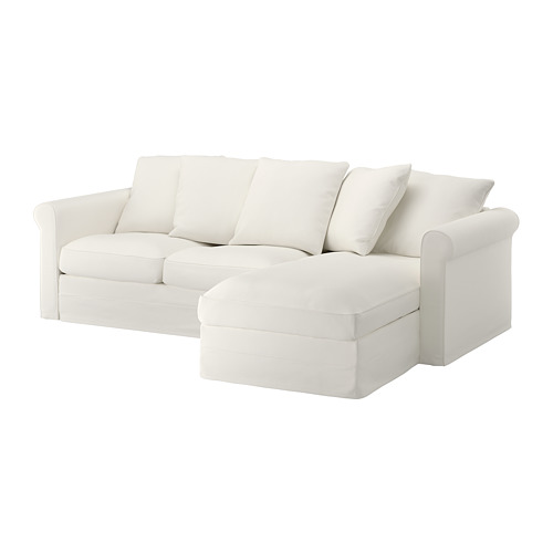 GRÖNLID - cover for 3-seat sofa, with chaise longue/Inseros white | IKEA Hong Kong and Macau - PE668689_S4