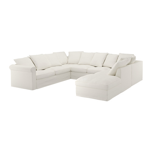 GRÖNLID - cover for u-shaped sofa, 6-seat, with open end/Inseros white | IKEA Hong Kong and Macau - PE668694_S4