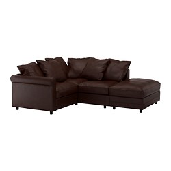 GRÖNLID - corner sofa, 3-seat, with open end/Kimstad dark brown | IKEA Hong Kong and Macau - PE668697_S3