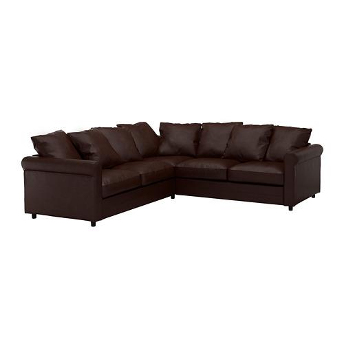GRÖNLID - 四座位角位梳化, Kimstad 深褐色   IKEA 香港及澳門 - PE668698_S4