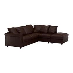 GRÖNLID - 四座位角位梳化, 開放式/Kimstad 深褐色   IKEA 香港及澳門 - PE668699_S3