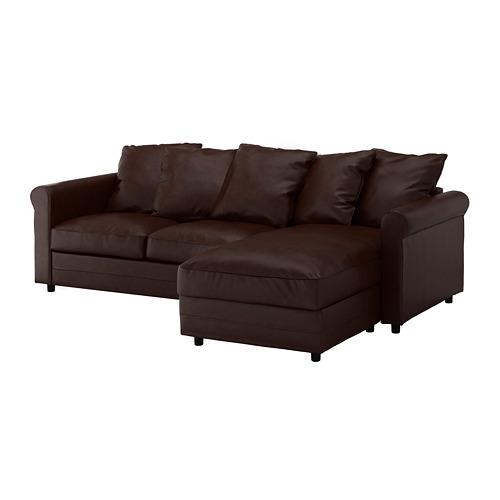 GRÖNLID - 3-seat sofa, with chaise longue/Kimstad dark brown   IKEA Hong Kong and Macau - PE668705_S4