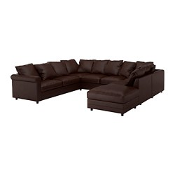 GRÖNLID - u-shaped sofa, 6 seat, with open end/Kimstad dark brown | IKEA Hong Kong and Macau - PE668702_S3