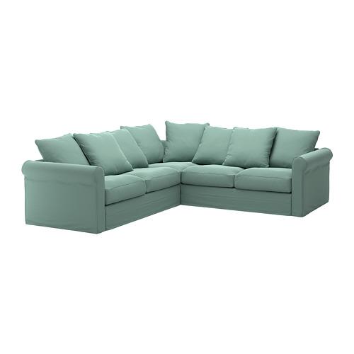 GRÖNLID - 四人座角位梳化布套, Ljungen 淺綠色 | IKEA 香港及澳門 - PE668729_S4
