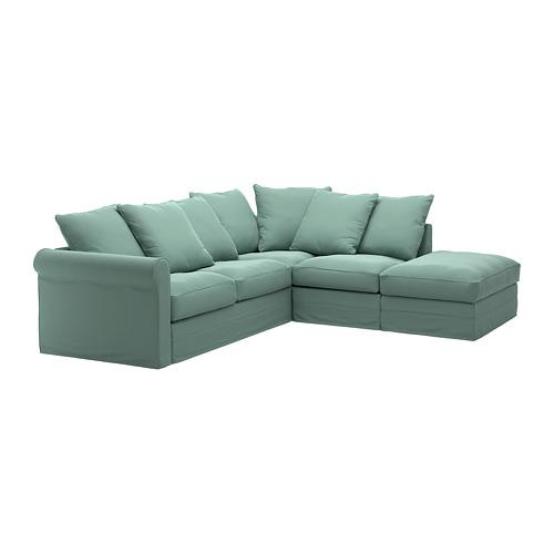 GRÖNLID - 四人座角位梳化布套, 開放式/Ljungen 淺綠色 | IKEA 香港及澳門 - PE668723_S4