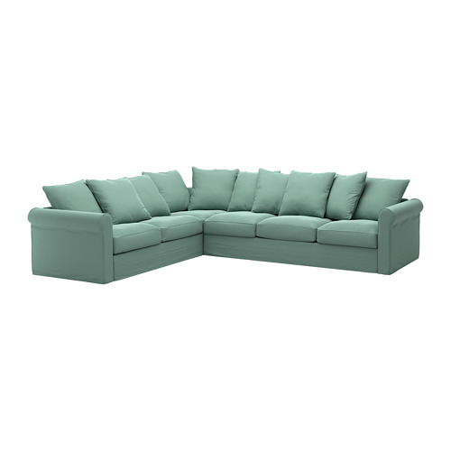 GRÖNLID - cover for corner sofa, 5-seat, Ljungen light green | IKEA Hong Kong and Macau - PE668720_S4