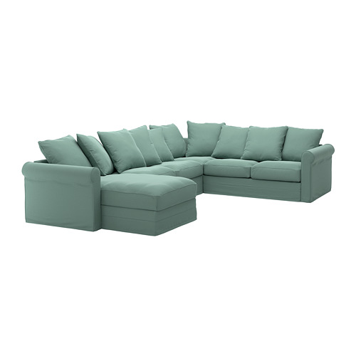 GRÖNLID - 五人座角位梳化布套, 連躺椅/Ljungen 淺綠色 | IKEA 香港及澳門 - PE668726_S4