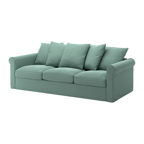 GRÖNLID - cover for 3-seat sofa, Ljungen light green | IKEA Hong Kong and Macau - PE668724_S4