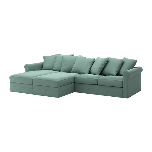 GRÖNLID - 4-seat sofa, with chaise longues/Ljungen light green | IKEA Hong Kong and Macau - PE668722_S4