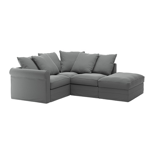 GRÖNLID - corner sofa, 3-seat, with open end/Ljungen medium grey | IKEA Hong Kong and Macau - PE668730_S4