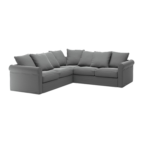 GRÖNLID - cover for corner sofa, 4-seat, Ljungen medium grey | IKEA Hong Kong and Macau - PE668731_S4