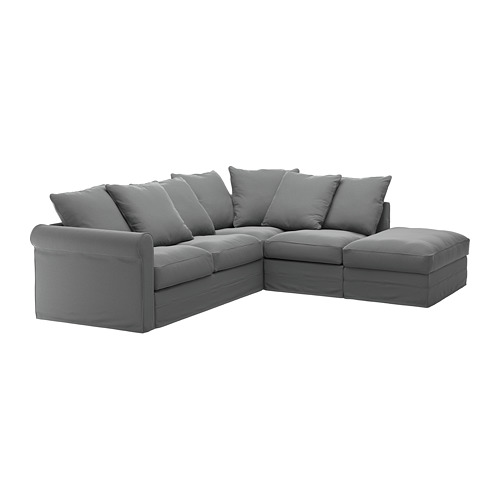 GRÖNLID - cover for corner sofa, 4-seat, with open end/Ljungen medium grey | IKEA Hong Kong and Macau - PE668735_S4