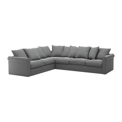 GRÖNLID - cover for corner sofa, 5-seat, Ljungen medium grey   IKEA Hong Kong and Macau - PE668738_S4