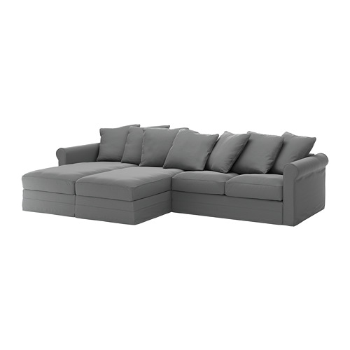 GRÖNLID - 4-seat sofa, with chaise longues/Ljungen medium grey | IKEA Hong Kong and Macau - PE668736_S4
