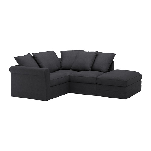 GRÖNLID - corner sofa, 3-seat, with open end/Sporda dark grey | IKEA Hong Kong and Macau - PE668749_S4