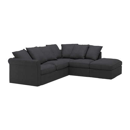 GRÖNLID - cover for corner sofa, 4-seat, with open end/Sporda dark grey | IKEA Hong Kong and Macau - PE668750_S4