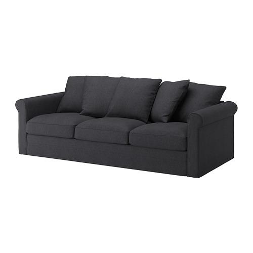 GRÖNLID - cover for 3-seat sofa, Sporda dark grey | IKEA Hong Kong and Macau - PE668745_S4