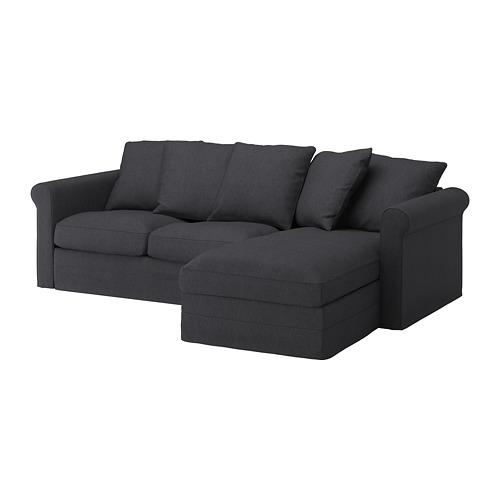 GRÖNLID - 3-seat sofa, with chaise longue/Sporda dark grey   IKEA Hong Kong and Macau - PE668751_S4