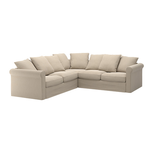 GRÖNLID - cover for corner sofa, 4-seat, Sporda natural | IKEA Hong Kong and Macau - PE668760_S4