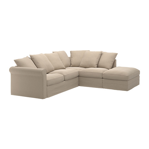 GRÖNLID - cover for corner sofa, 4-seat, with open end/Sporda natural | IKEA Hong Kong and Macau - PE668753_S4