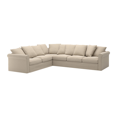 GRÖNLID cover for corner sofa, 5-seat