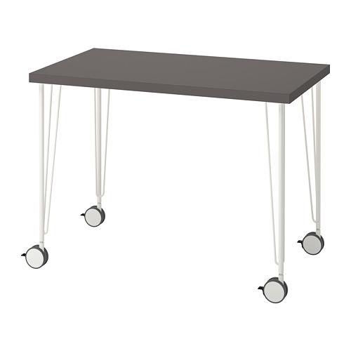 KRILLE/LINNMON - desk, dark grey/white | IKEA Hong Kong and Macau - PE813456_S4