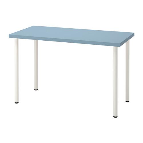 LAGKAPTEN/ADILS - 書檯, 淺藍色/白色   IKEA 香港及澳門 - PE813469_S4