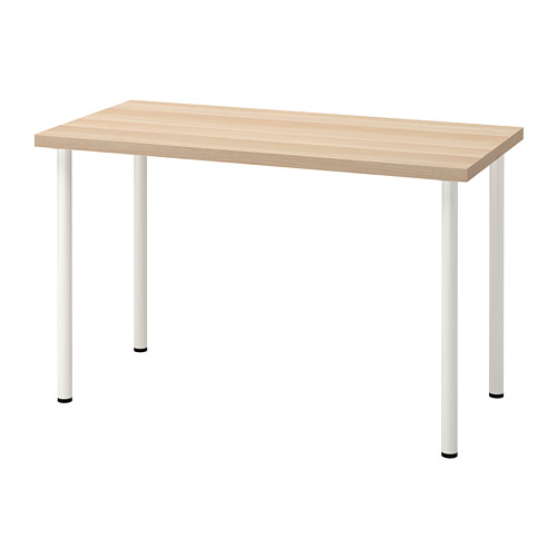 LAGKAPTEN/ADILS - desk, white stained oak effect/white | IKEA Hong Kong and Macau - PE813475_S4