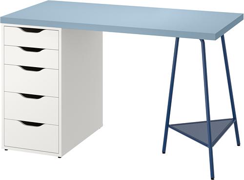 ALEX/LAGKAPTEN - desk, 120x60cm, blue/white | IKEA Hong Kong and Macau - PE813479_S4