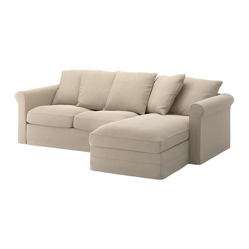 GRÖNLID - 3-seat sofa, with chaise longue/Sporda natural | IKEA Hong Kong and Macau - PE668756_S4