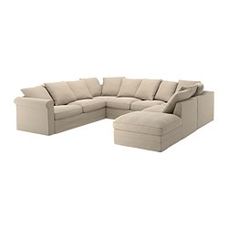 GRÖNLID - u-shaped sofa, 6 seat, with open end/Sporda natural | IKEA Hong Kong and Macau - PE668758_S3