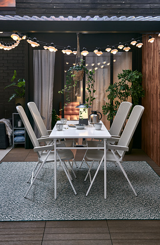 TORPARÖ - table, outdoor, 130x74cm, white/foldable | IKEA Hong Kong and Macau - PH175992_S4