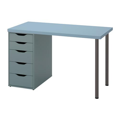 ALEX/LAGKAPTEN - 書檯, 淺藍色/灰湖水綠色 | IKEA 香港及澳門 - PE813605_S4